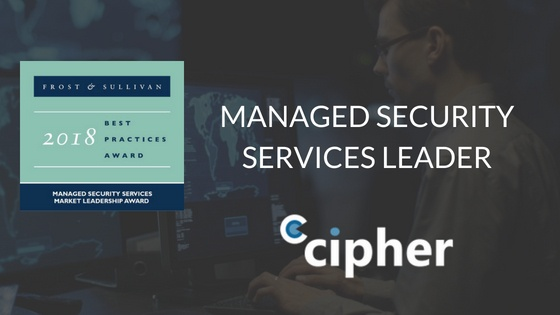 Frost & Sullivan Managed Security Services Leader Award