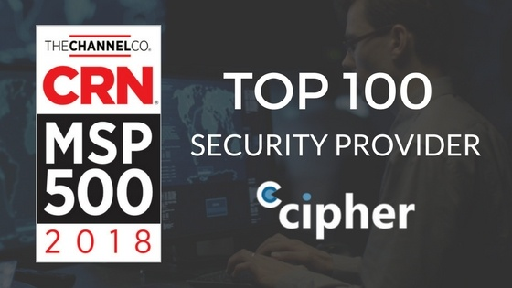 CIPHER Named a Top 100 Security Provider