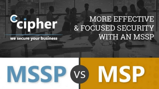 Managed Service Provider (MSP) vs. Managed Security Services Provider